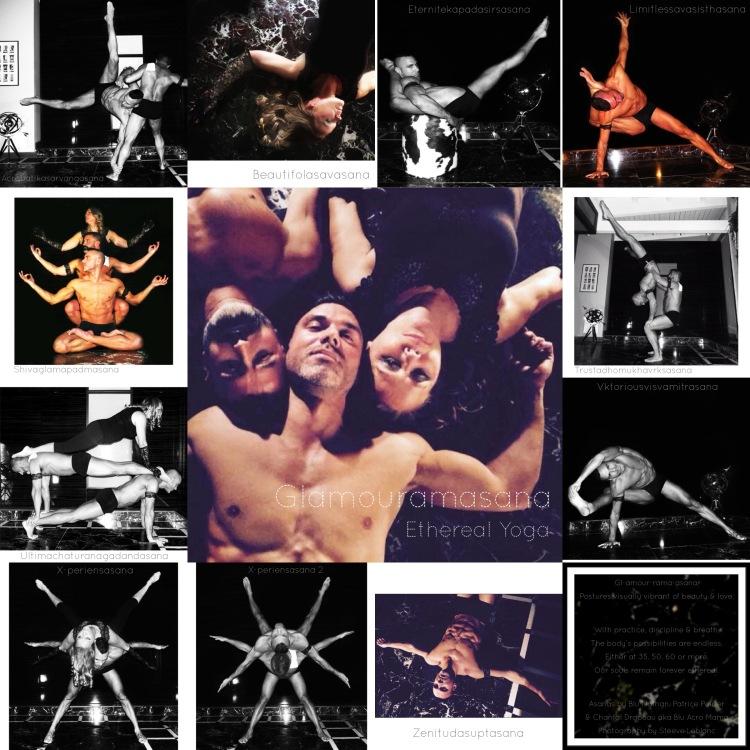 Blu Nathan - Glamouramasana Collage