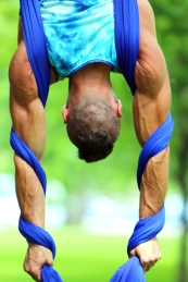 Blu Nathan Silks Journey - Aerial Silks Inversion