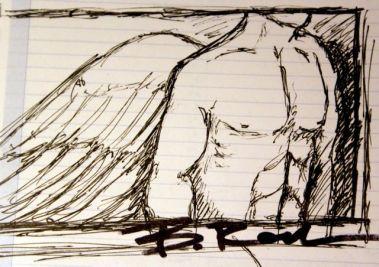 Angel Blu Nathan / Drawing: Bernard Rochon
