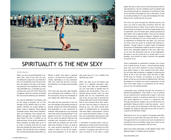 Blu Nathan - Spirituality Is The New Sexy - Kraven Magazine March 2013
