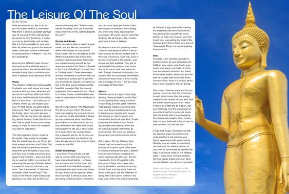 Blu Nathan - The Leisure Of The Soul - Kraven Magazine April 2013