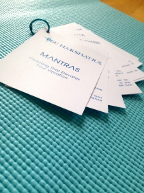 Blu nakshatra - Mantra Cards